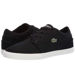 Men's Lacoste sneaker black with green croc logo